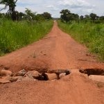 The Kaladima Guru- Guru is one  of a  few main roads in the area. The broken culvert has rendered the road impassible  for vehicles.