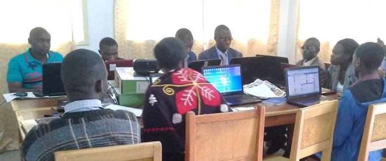 ToroDev members in an online training session led by WOUGNET in Fort Portal Edited
